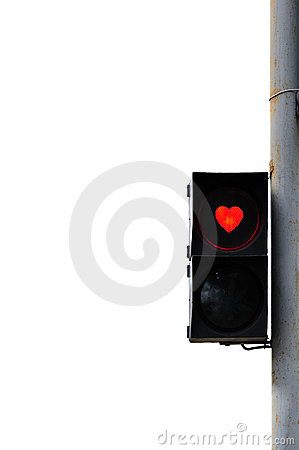 Love trafficlight Stock Photo