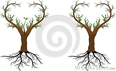 Love tree save us Vector Illustration