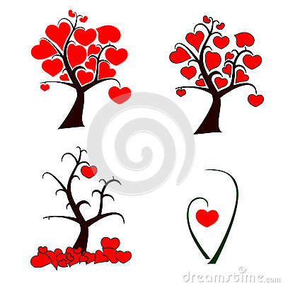 Love tree set