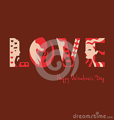 Love typography background