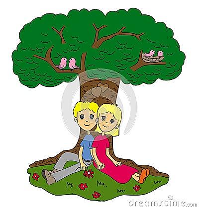 Love under tree