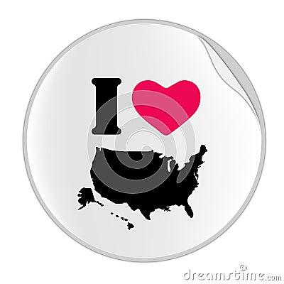 Love USA Sticker (STICKER SERIES)