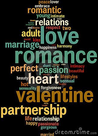 Love valentine info-text word clouds