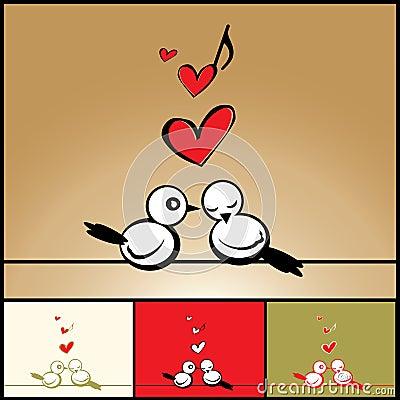Love, Valentine s background with birds