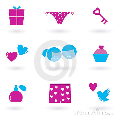 Love and Valentine s day icons and symbols