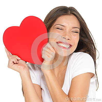 Love and valentines day woman