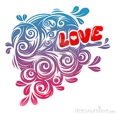 Love Vintage Graphics Stock Photo - Image: 12114230