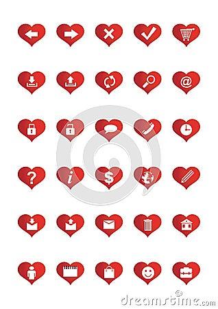 Love Web Icons set 1