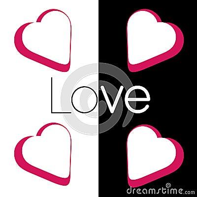 Love in white black Stock Photo