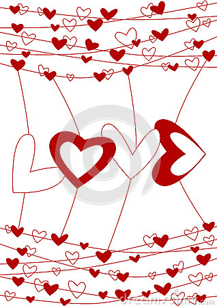 Love wire valentines day card