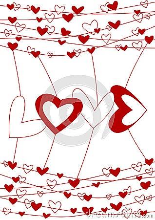 Love wire valentines day card