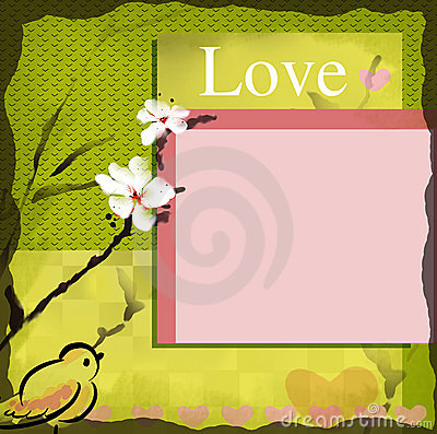 Love wish card blank