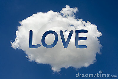 LOVE written on cloud