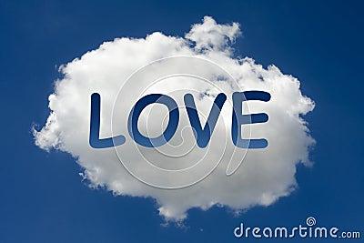 LOVE written on cloud