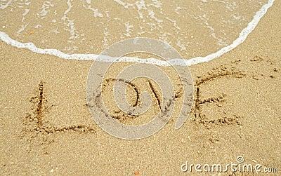 Love written in sand