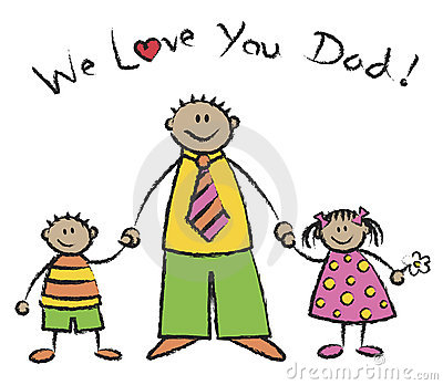We Love You Dad Tan Skin Tone Stock Images - Image: 2671164