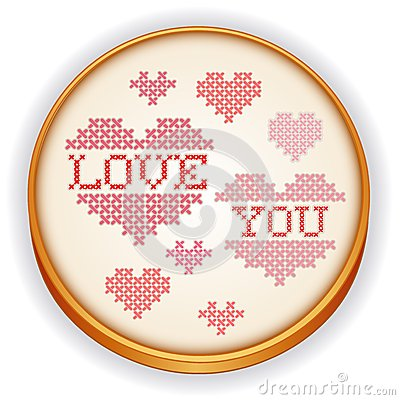 Love You Embroidery, Wood Sewing Hoop
