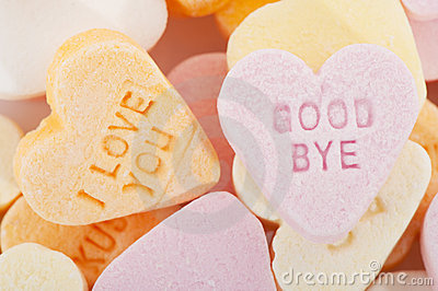 Love you and goodbye candy hearts