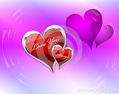 Love You Hearts double