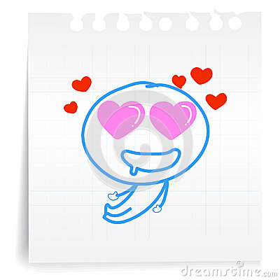 Love you so mach cartoon_on paper Note