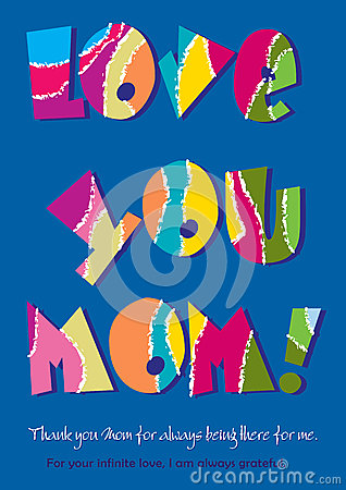 Free Love You Mom Royalty Free Stock Photography - 71430667