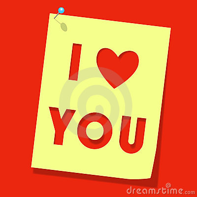 Love you paper note