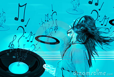 Love your music - cyan