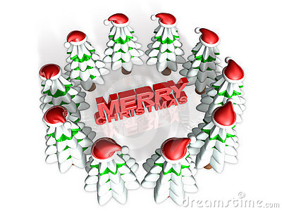 Lovely 3d christmas forest