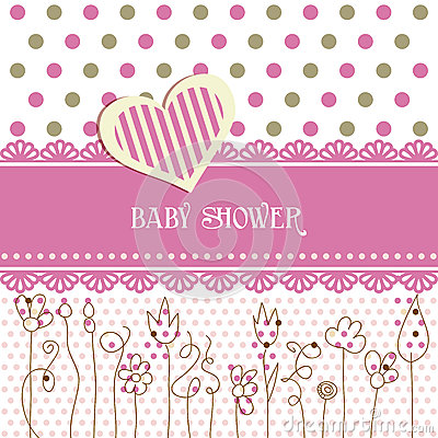 Free Lovely Baby Shower Royalty Free Stock Images - 25489109