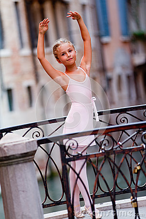 Lovely ballerina in Venice