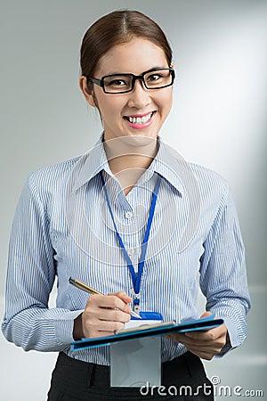 Lovely businesswoman