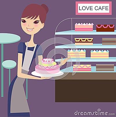 Lovely cake house