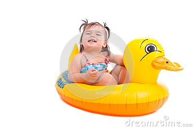 Lovely child with air-toy