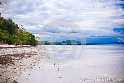 Lovely clean landscape on a paradise beach in the