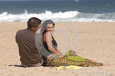 Lovely couple on the beach