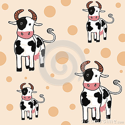 Lovely cows seamless backround