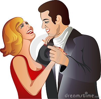 Lovely dancing couple