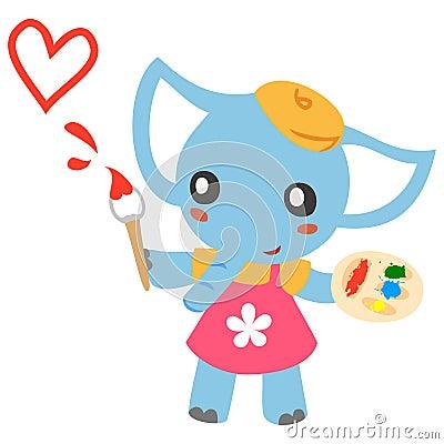Lovely Elephant painter
