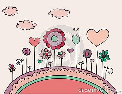 Lovely floral doodle