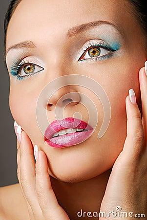 Lovely girl with beautiful eye