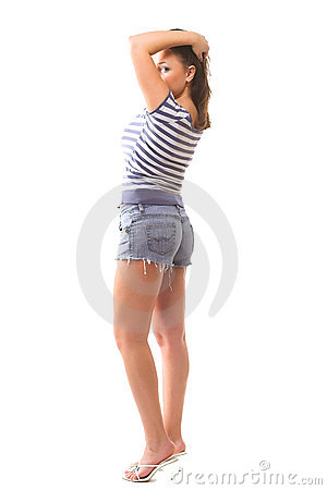 Free Lovely Girl In Colorful Wear Stock Photos - 2318783