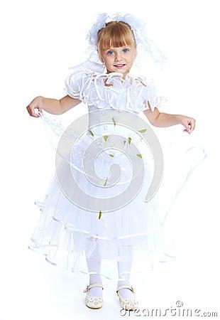 Free Lovely Girl In White Dress. Stock Images - 47034074