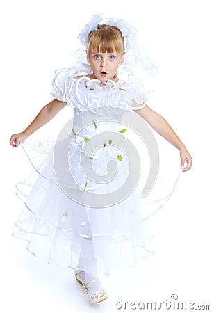 Free Lovely Girl In White Dress. Royalty Free Stock Photo - 47685605