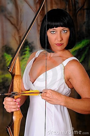 Lovely Greek Goddess Archer