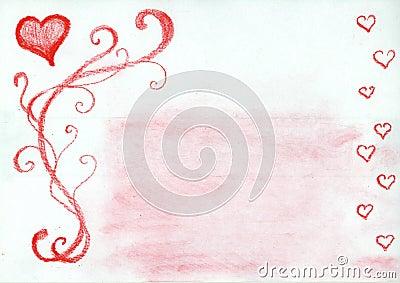 Lovely hearts frame