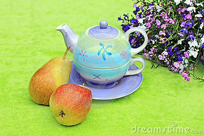 Lovely pastel teapot