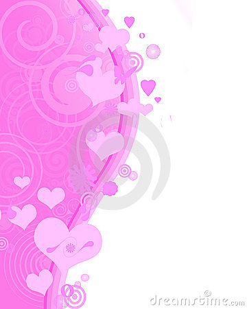 Lovely pink vertical background