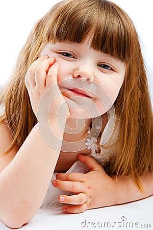 Lovely preschool girl