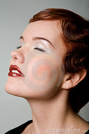 Free Lovely Red-head Young Woman With Closed Eyes Stock Images - 7454564