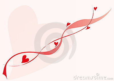 Lovely red hearts and lines